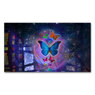 Fantasy Butterfly Business Card Magnet