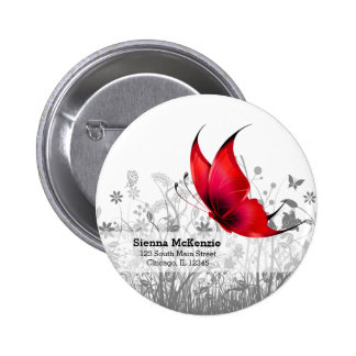 Fantasy Butterfly * choose background color Pinback Button