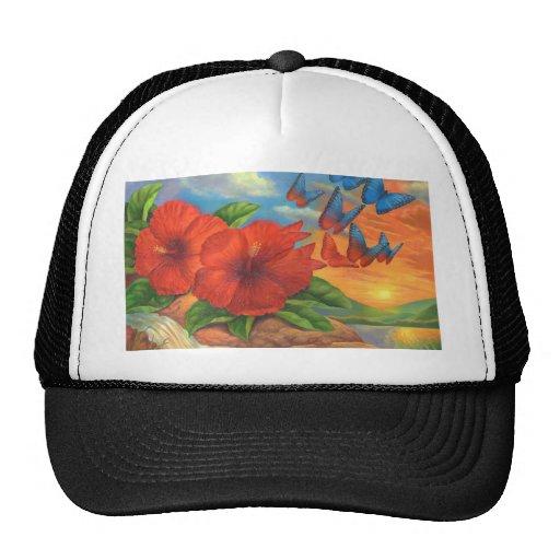 Fantasy Butterfly Landscape Painting - Multi Trucker Hat