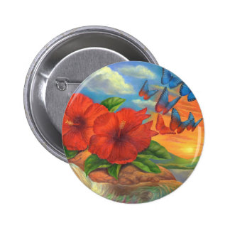Fantasy Butterfly Landscape Painting - Multi Pin