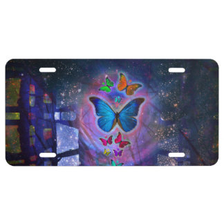 Fantasy Butterfly License Plate