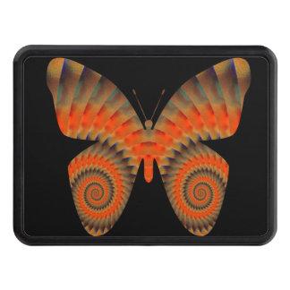 Fantasy Butterfly Orange Swirl Mandala Tow Hitch Covers