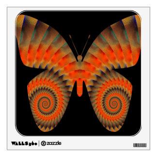 Fantasy Butterfly Orange Swirl Mandala Wall Graphic