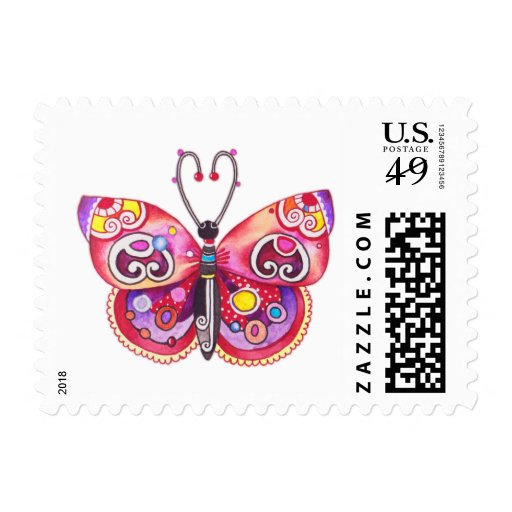 Fantasy Butterfly Stamp