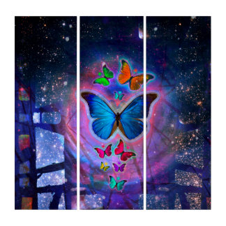 Fantasy Butterfly Triptych