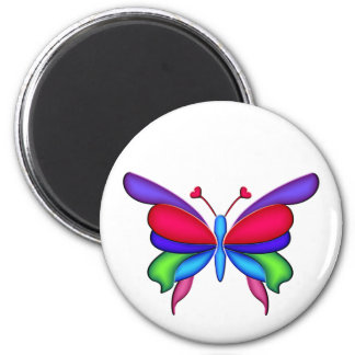Fantasy Butterfly with Heart Antennae Magnet