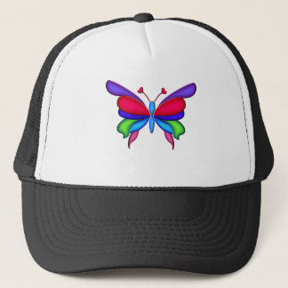 Fantasy Butterfly with Heart Antennae Trucker Hat