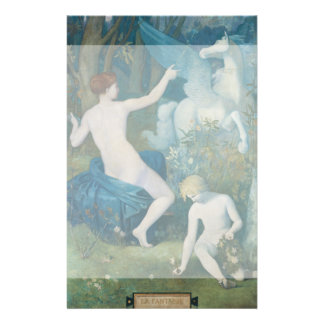 "Fantasy by Pierre Puvis de Chavannes 5.5"" X 8.5"" Flyer"