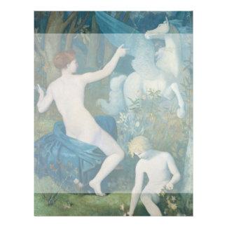 "Fantasy by Pierre Puvis de Chavannes 8.5"" X 11"" Flyer"