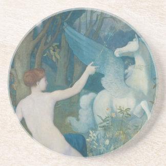 Fantasy by Pierre Puvis de Chavannes Coaster