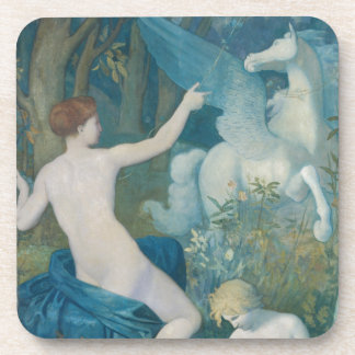 Fantasy by Pierre Puvis de Chavannes Drink Coaster