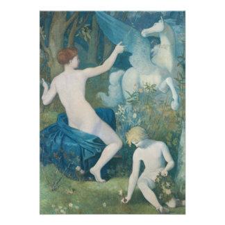 Fantasy by Pierre Puvis de Chavannes Personalized Invite