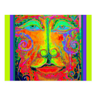 Fantasy Carnaval Party Face by Sharles Post Card