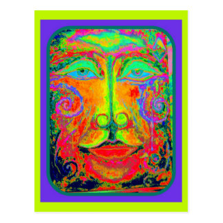 Fantasy Carnaval Party Face by Sharles Postcard