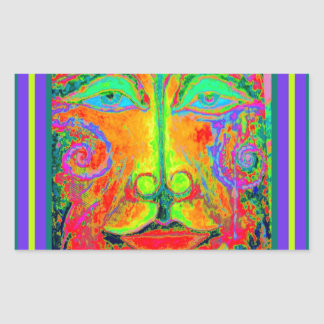 Fantasy Carnaval Party Face by Sharles Rectangular Sticker