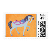 Fantasy Carousel Horse Postage Stamp