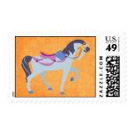 Fantasy Carousel Horse Postage Stamp