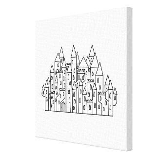 Fantasy Castle Stretched Canvas Prints