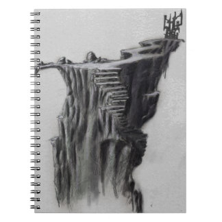 Fantasy Castle on a Cliff Spiral Note Books