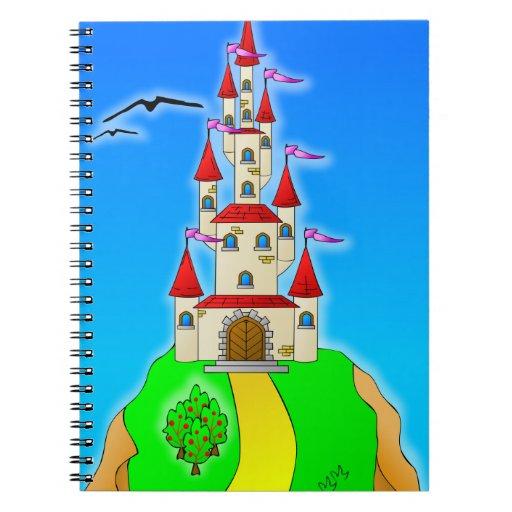 Fantasy Castle Spiral Note Books