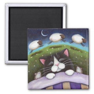 Fantasy Cat and Mouse Art Magnet magnet