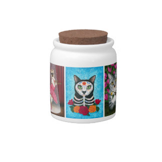 Fantasy Cat Art Candy Jar
