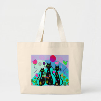 """Fantasy Cats of Summer"" Large Tote Bag"
