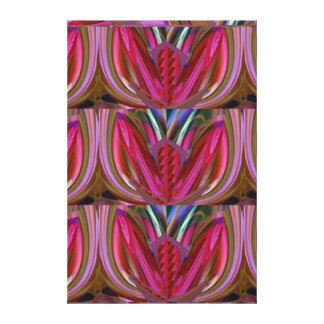 FANTASY Celebrations Colorful Dreamy Flowers RED Stretched Canvas Prints