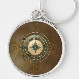 Fantasy Celtic Compass Design Keychain