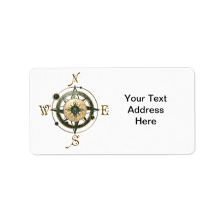 Fantasy (Celtic) Compass Design Label