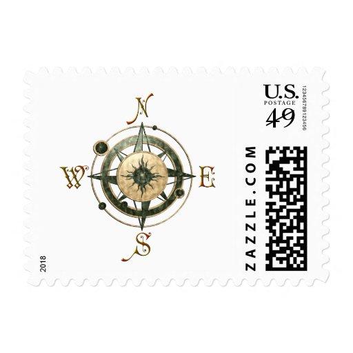 Fantasy (Celtic) Compass Design Postage Stamp