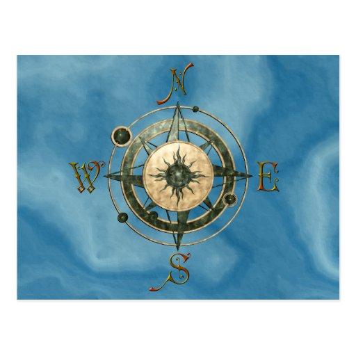 Fantasy (Celtic) Compass Design Postcard