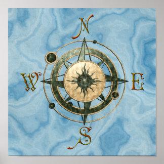 Fantasy (Celtic) Compass Design Poster