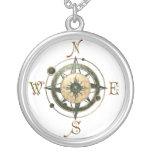 Fantasy (Celtic) Compass Design Round Pendant Necklace