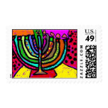 Fantasy Chanukah Menorah Postage Stamp