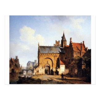 Fantasy cityview of Maassluis by Cornelis Springer Postcard