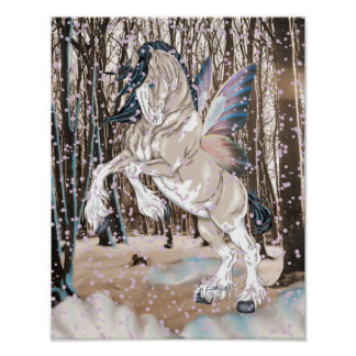 Fantasy Clydesdale Horse Fairy Poster