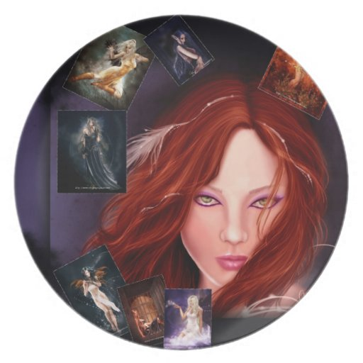 Fantasy collage plate