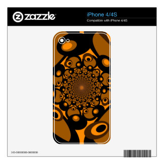 Fantasy Colorful Dots Abstract Retro Art Deco 3 Decals For iPhone 4S