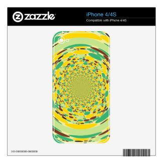 Fantasy Colorful Dots Abstract Retro Art Deco Skin For iPhone 4