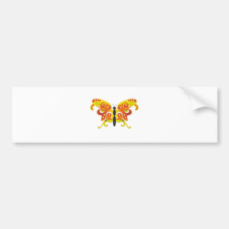 Fantasy Colorfull Butterfly by Bestpeople Bumper Sticker
