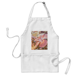 Fantasy Colors Hibiscus Flower Digital Photography Adult Apron
