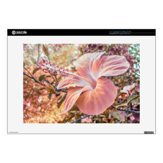 """Fantasy Colors Hibiscus Flower Digital Photography Decals For 15"""" Laptops"""