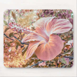 Fantasy Colors Hibiscus Flower Digital Photography Mouse Pad