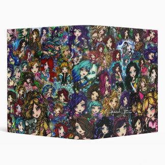 Fantasy Comic Art Collage Mermaids Fairies Binder