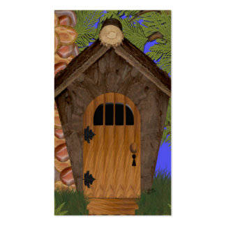Fantasy Cottage and Cedar Trees Bookmarks Double-Sided Standard Business Cards (Pack Of 100)