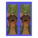 Fantasy Cottage and Cedar Trees Bookmarks Postcard