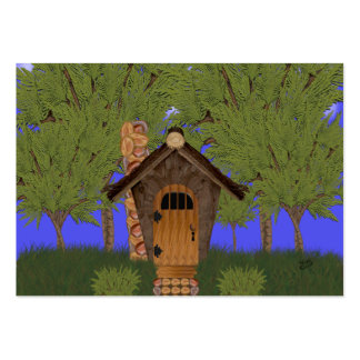 Fantasy Cottage with Cedar Trees Gift Tag Large Business Cards (Pack Of 100)