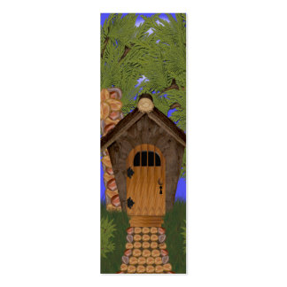 Fantasy Cottage with Cedar Trees Profile Card Double-Sided Mini Business Cards (Pack Of 20)