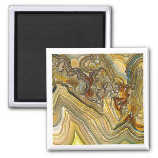 Fantasy Crazy Lace Agate Opus 01 2 Inch Square Magnet